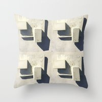 concrete Throw Pillows featuring concrete  by Larry Fulton