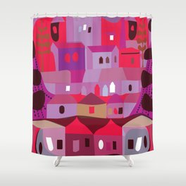 Cow in Downtown Los Angeles Shower Curtain