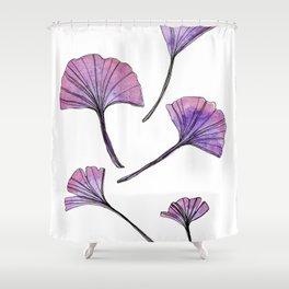 Galaxy Ginkgo Leaves Shower Curtain