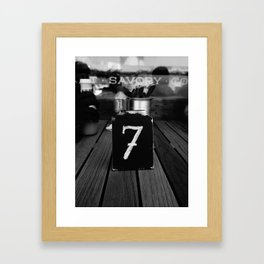 No. 7 Framed Art Print