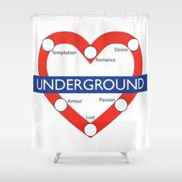 Love Underground Shower Curtain