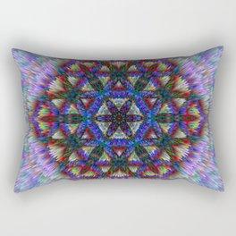 Flower of Life from chalk Rectangular Pillow