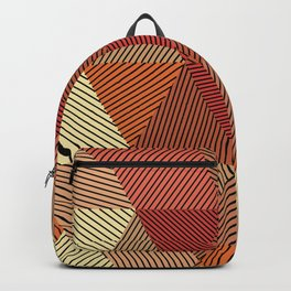 Terracotta geometric Backpack