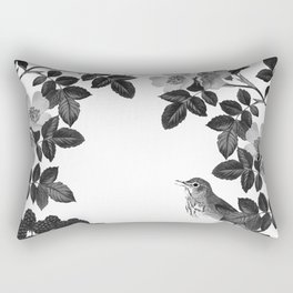 Birds and the Bees Black and White Rectangular Pillow