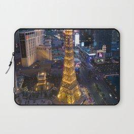 Aerial view of the Eiffel tower in Las Vegas Laptop Sleeve