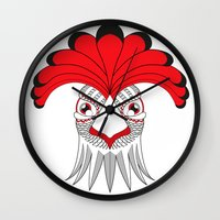cock Wall Clocks featuring Cock by HandeAylan