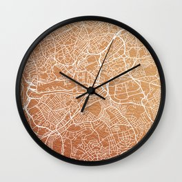 Bristol map Wall Clock