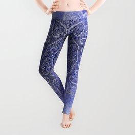 purple mandala of hearts Leggings