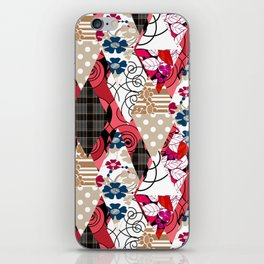 Colorful national patchwork of 12 iPhone Skin