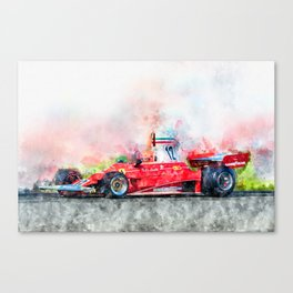 Niki Lauda No.12 Canvas Print