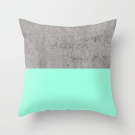 Sea on Concrete Throw Pillow