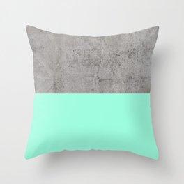 Sea on Concrete Throw Pillow