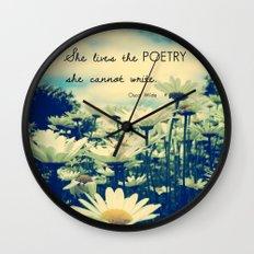Poetic Life Wall Clock