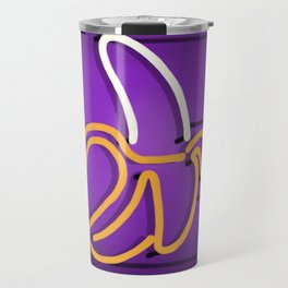 Banana neon sign Travel Mug
