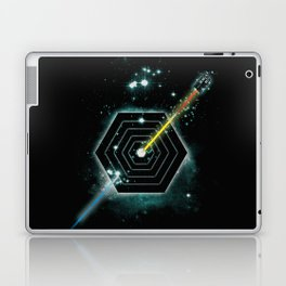 Space and Time Fragmentation Ship Laptop & iPad Skin