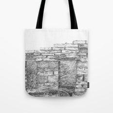 Bricks of broken house Tote Bag