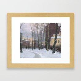 Winter at the Vasily's island Framed Art Print