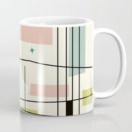 Mid Century Art Bauhaus Style Pastel Coffee Mug