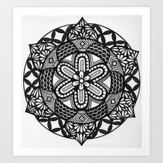 Flower Mandala Art Print