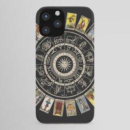 The Major Arcana & The Wheel of the Zodiac iPhone Case
