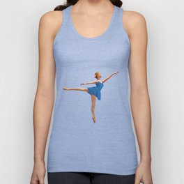 Arabesque in Blue Unisex Tank Top