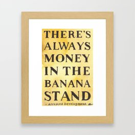 The Banana Stand Framed Art Print