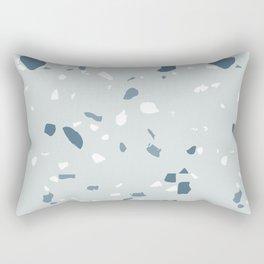 Terrazzo blues Rectangular Pillow