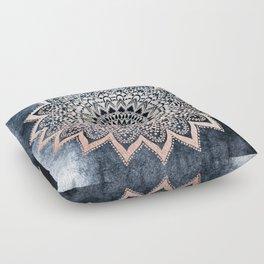 BLUE BOHO NIGHTS MANDALA Floor Pillow