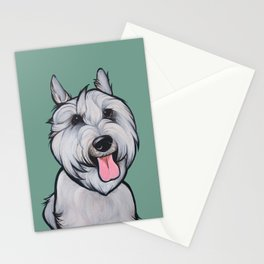 Levi the Miniature Schnauzer Stationery Cards