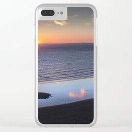Rhossili Summer Solstice sunset 2018 Clear iPhone Case