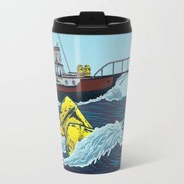 Jaws: Orca Illustration Travel Mug