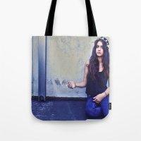 jackalope Tote Bags featuring JACKALOPE by Evan Daigle