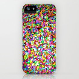 Abstract multicoloured pattern iPhone Case