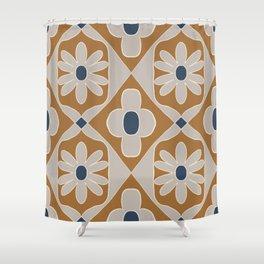 Bold Bohemian Tile Pattern  Shower Curtain