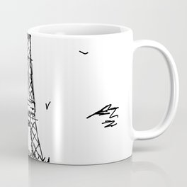 Paris Eiffel Tower Drawing Coffee Mug