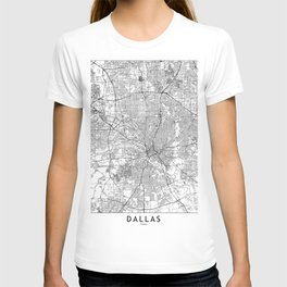 Dallas White Map T-shirt