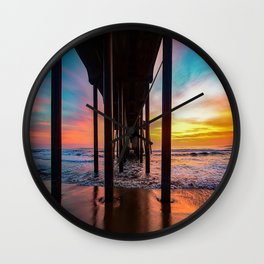 Winter Wonderland - Surf City USA Wall Clock