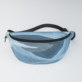 Shapes and Layers no.24 - Blues Fanny Pack