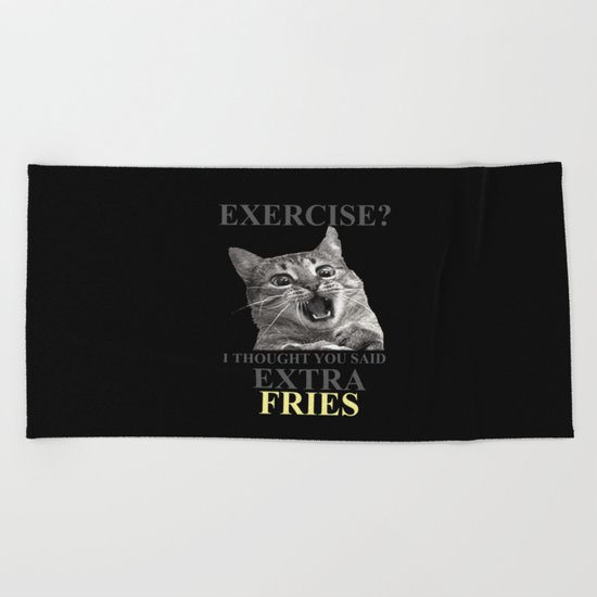 exercise what? Beach Towel