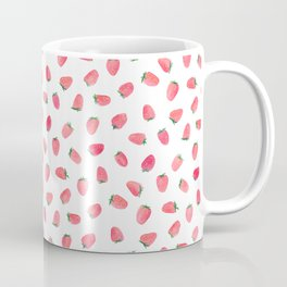 Strawberry Patch Watercolor Pattern Coffee Mug