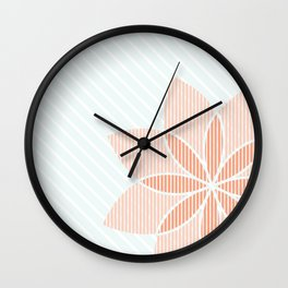 Floral Stripes Wall Clock