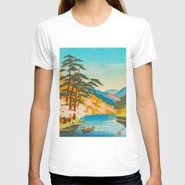 Kawai Kenji Arashiyama Japan Japanese Woodblock Print T-shirt
