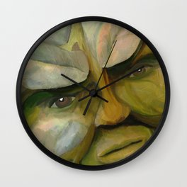 The Green Man (Stones & Leaves) Wall Clock