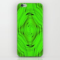 lime green iPhone & iPod Skins featuring Lime Green by Sartoris ART