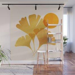 Abstraction_SUN_Ginkgo_Minimalism_001 Wall Mural
