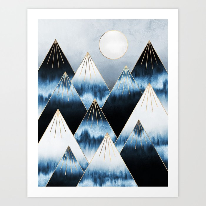 Frost Mountains Art Print