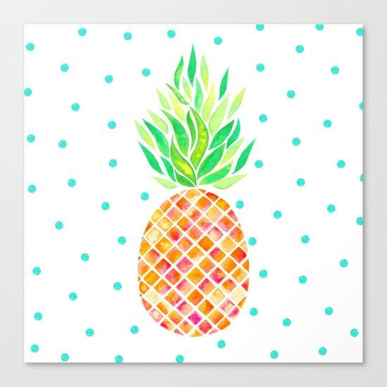 Tangerine Pineapple Canvas Print