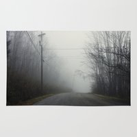 nashville Area & Throw Rugs featuring Nashville Fog by Jason Delkou
