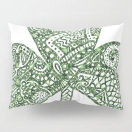 Shamrock Doodle Pillow Sham