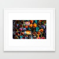 tequila Framed Art Prints featuring tequila by Elizabeth Baena